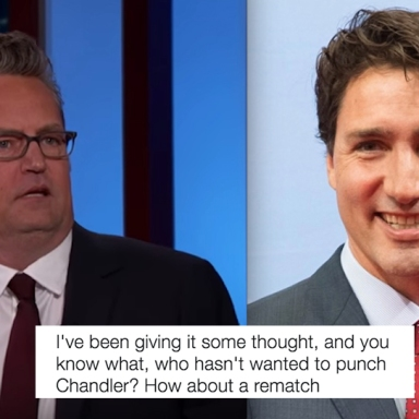 Justin Trudeau Tweeted This Hilarious Response After Matthew Perry Said He Beat Him Up In Elementary School