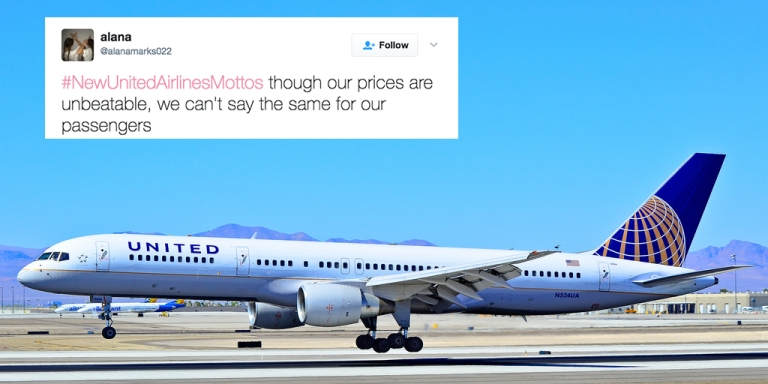 People Are Tweeting New United Airlines Mottos And They're HilariouslySavage