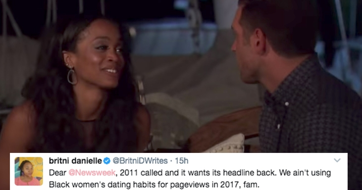This Article Claimed 'The Bachelorette' 'Proved' Black Women Like Men Outside Their Race And People ArePissed