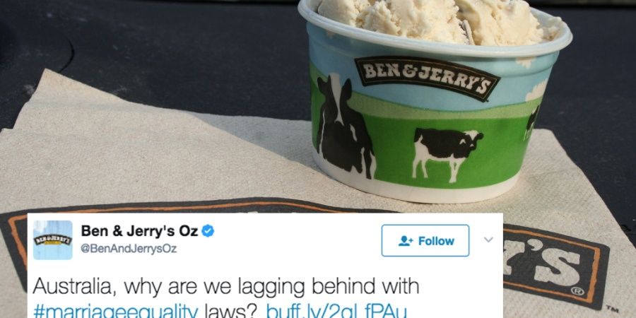 Ben & Jerry's Is Banning Australian Customers From Buying Two Scoops Of The Same Flavor Until Marriage Equality IsLegal