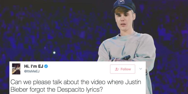 """Justin Bieber Replaced The Spanish Words In 'Despacito"""" With Gibberish And People ArePissed"""