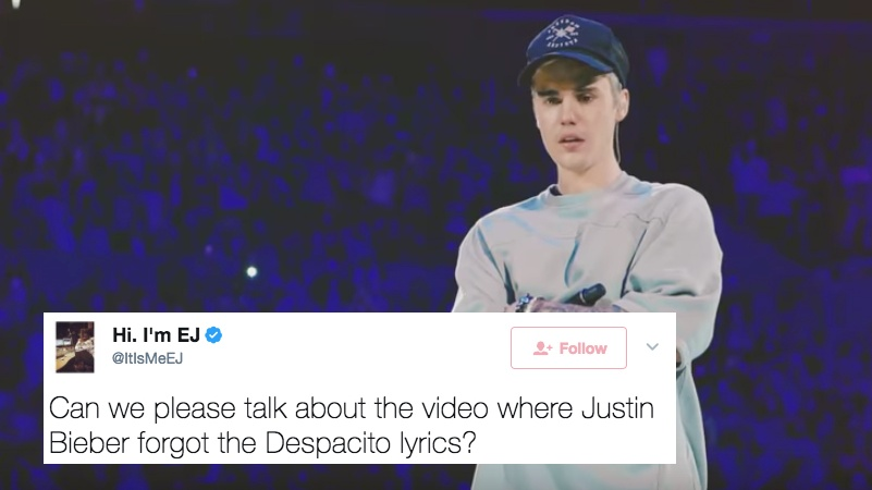 "Justin Bieber Replaced The Spanish Words In 'Despacito"" With Gibberish And People Are Pissed"