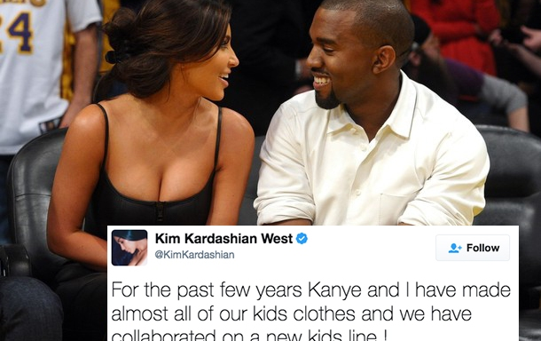 Kim and Kanye Are Dropping A New Children's Clothing Line And It'll Make You Want To Be A KidAgain