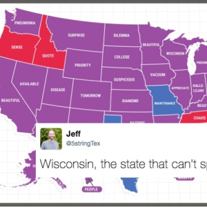 Google Tweeted Out A Map Of The Most Misspelled Word In Each State And It's Hilariously Cringeworthy