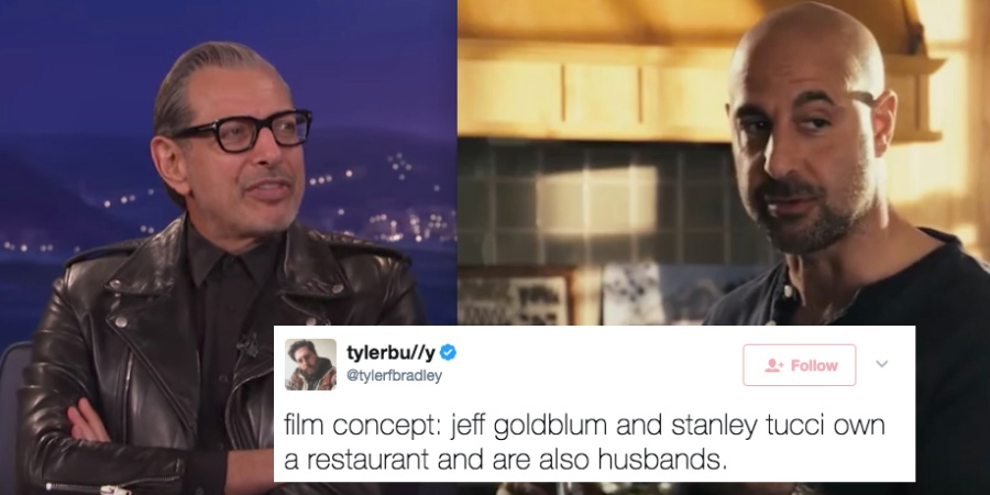People On Twitter Just Came Up With A Hilariously Genius Movie Idea Starring Stanley Tucci And JeffGoldblum