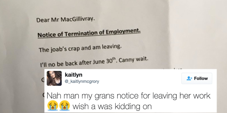 This Scottish Grandmother Resigned From Her Job With An Epically Hilarious Letter To HerEmployers