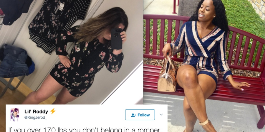 Someone Tried To Put A Weight Limit On Rompers And These Women Clapped Back On Twitter