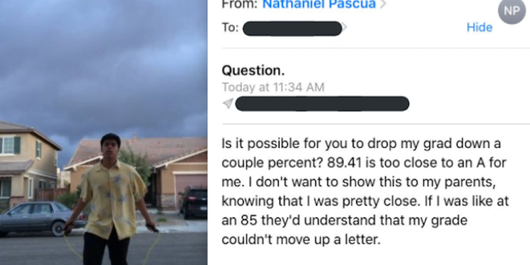 This Student Used Reverse Psychology To Convince His Teacher To Raise His Grade And People On Twitter AreImpressed