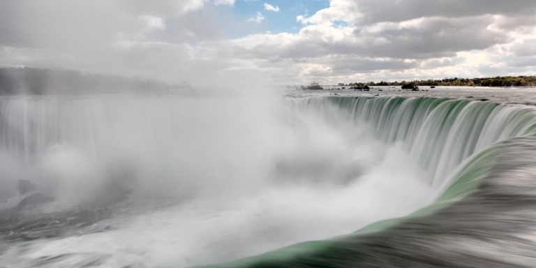This Woman Hung Over Niagara Falls By Her Teeth To Break Her Husband's Record And It's FuckingInsane