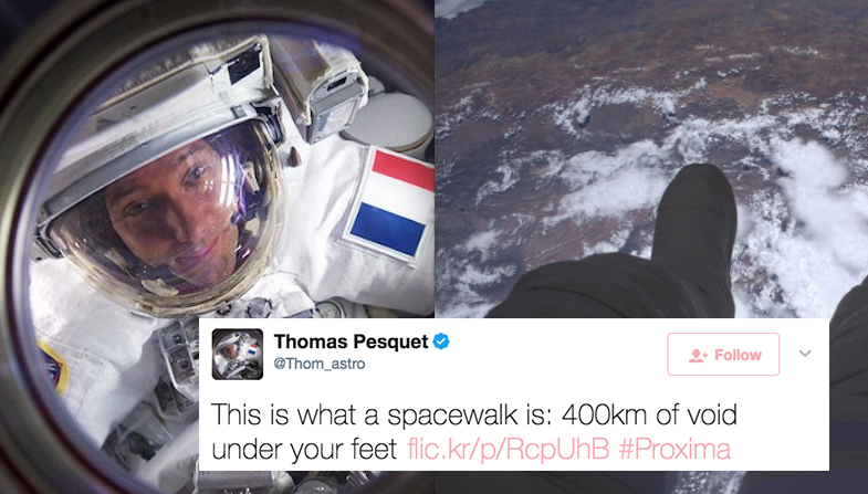 This Astronaut's Epic Tweets From Space Will Make You Want To Change Your Career PathImmediately