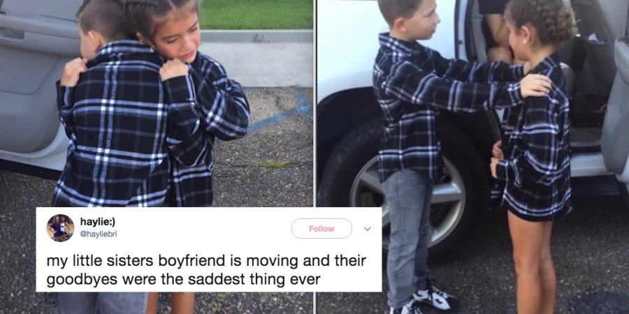 This Little Girl's Goodbye To Her 'BF' Is Heartbreakingly Pure And Everyone On Twitter Is GettingEmotional