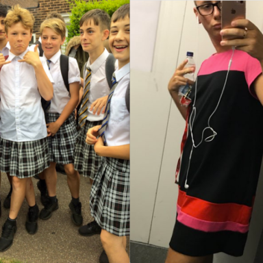 Guys Are Rebelling Against The Dress Code By Wearing Skirts And It's Actually Kind Of Working
