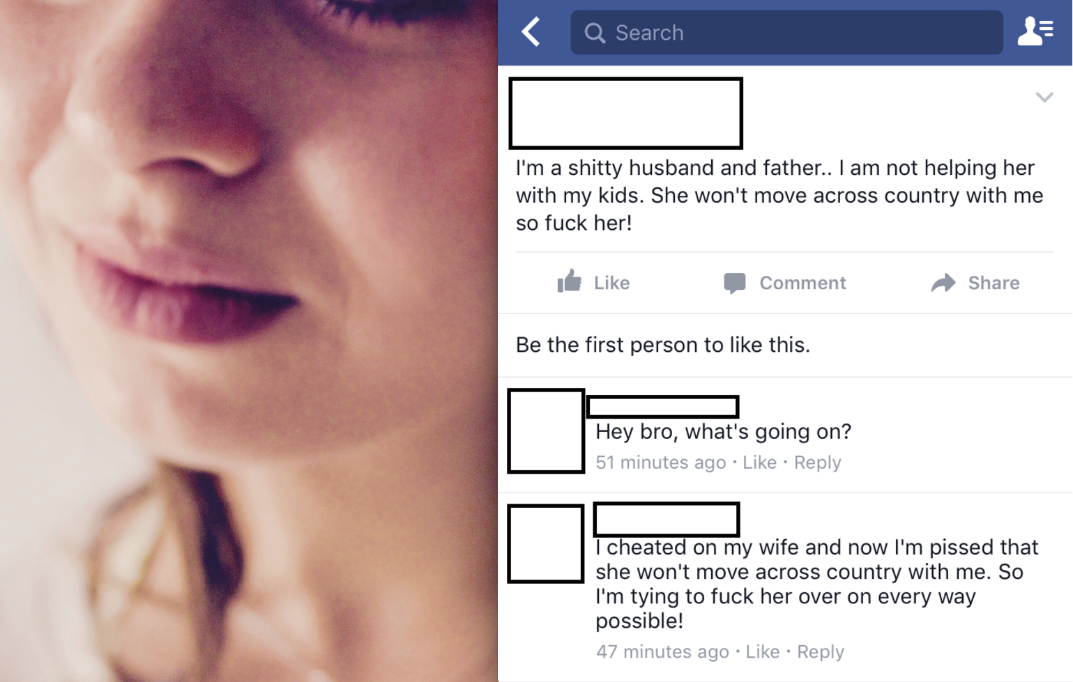 Cheating on facebook wife How to