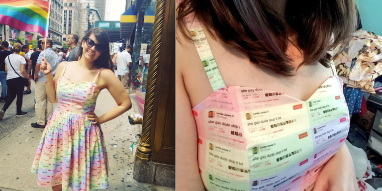This Woman Turned A Leslie Jones Tweet Into A Dress For Pride Month And Now Everyone WantsOne