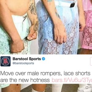 Lace Pants Are The New Trend In Men's Fashion And People On Twitter Are Shook