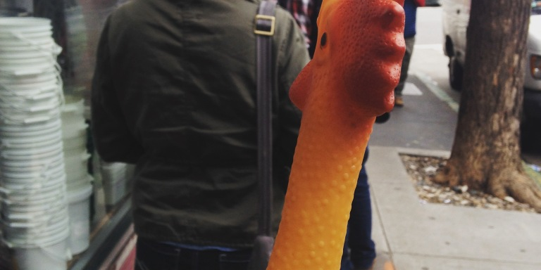 I Walked Around With A Rubber Chicken For 30 Days — Here's What It Taught Me