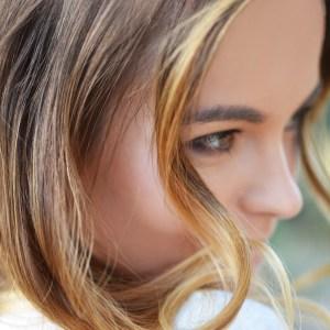 Young woman's face closeup