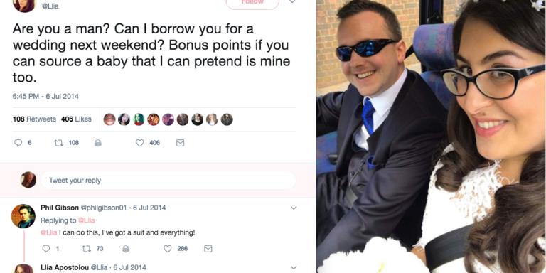 This Woman Used Twitter To Find A Date To Her Sister's Wedding, But Little Did She Know She Would Marry Him Three YearsLater