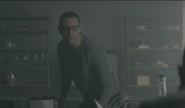 Chester Bennington in Heavy music video