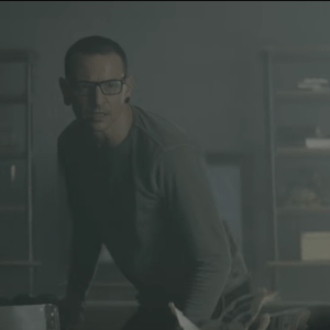 Chester Bennington in Heavy music video