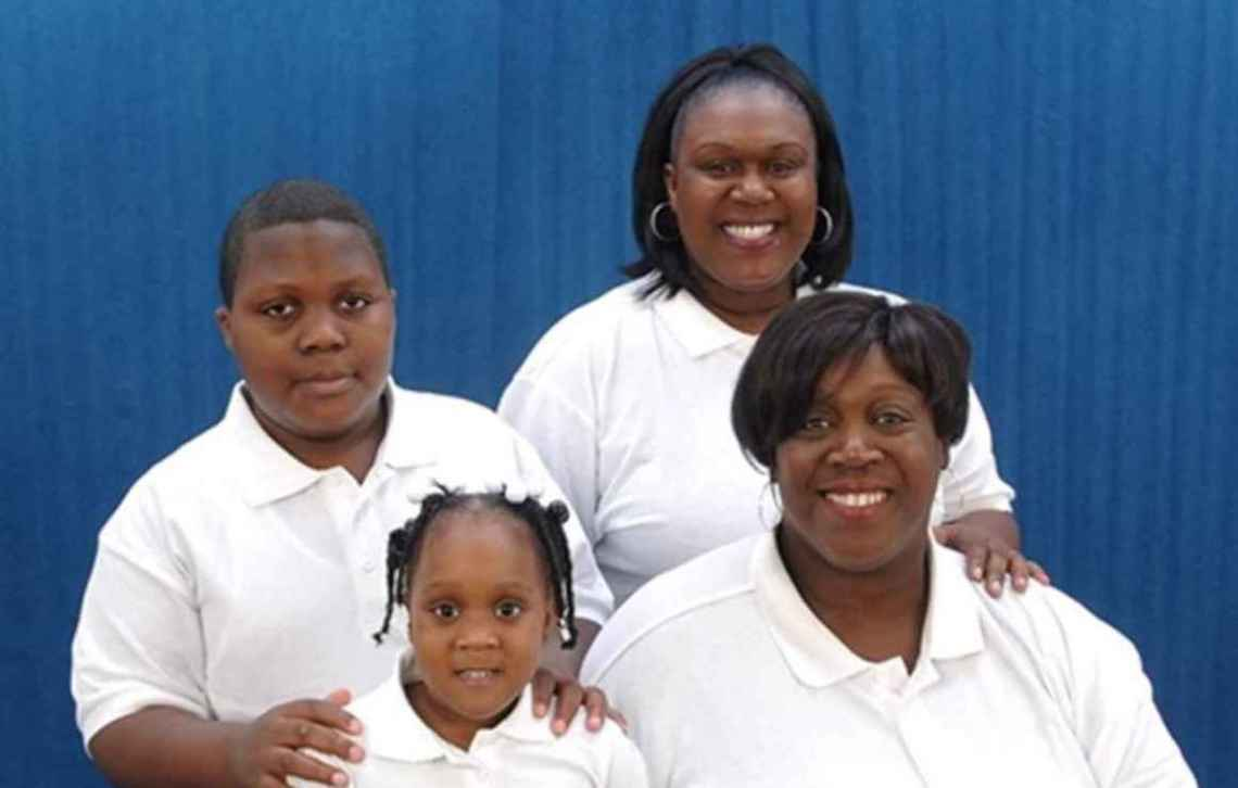 Alicia Coleman and her family