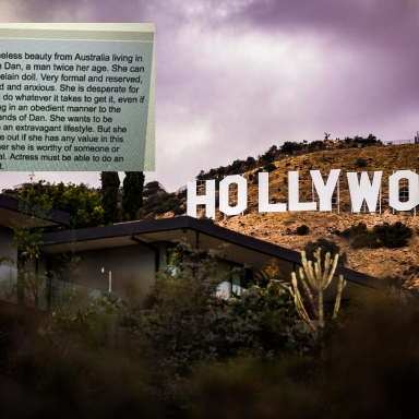 The Hollywood sign in LA and a casting call for actresses