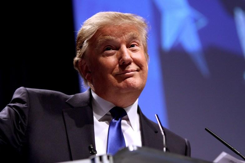 Donald Trump talking at a rally