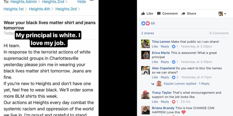 This Principal's Response To Charlottesville Will Make You Have Faith In HumanityAgain