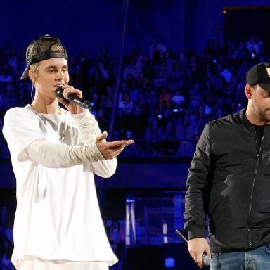 Justin Bieber sings to the crowd at one of his concerts