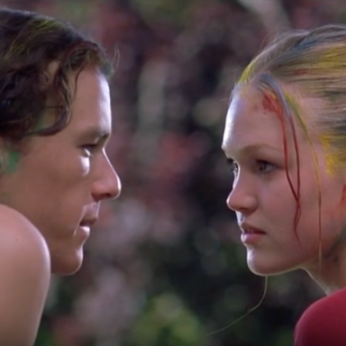 Heath Ledger and Julia Stiles in 10 Things I Hate About You, YouTube Screenshot