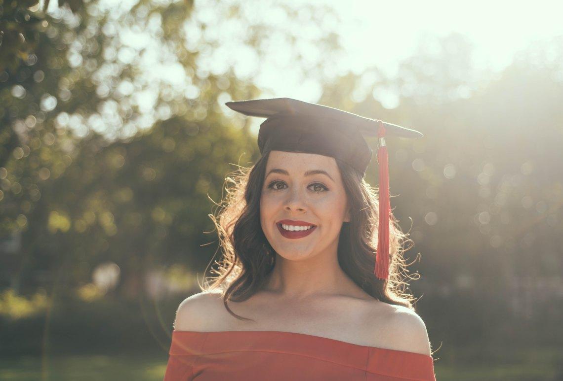 Girl at graduation