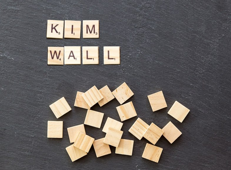 "Scrabble pieces spell out ""Kim Wall"" name"