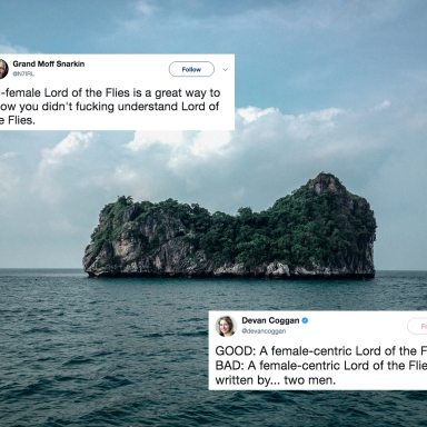 A deserted island in the middle of the ocean and tweets about the all-women Lord of the Flies remake