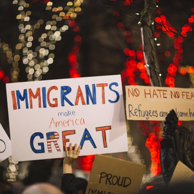 People protest immigration bans in the U.S.