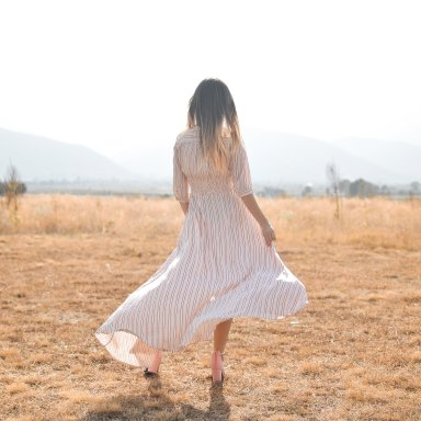 Girl in open field