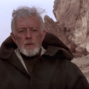 Obi-Wan Kenobi in a star wars film