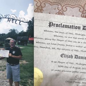 Elijah Daniel becoming the Mayor of Hell