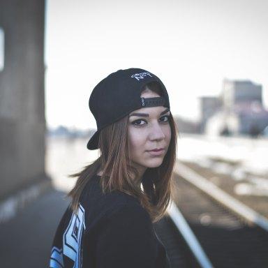Girl with backwards cap