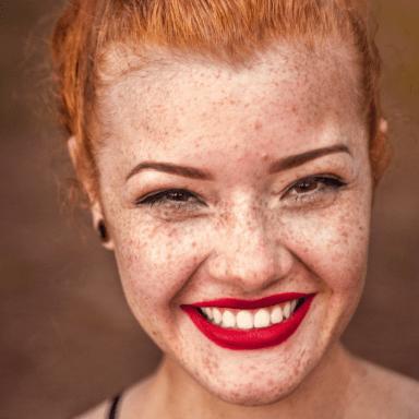 Smiling Girl Experiences Healing