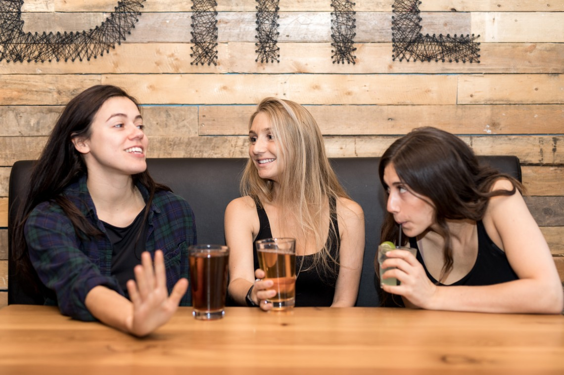 Girls drinking alcohol