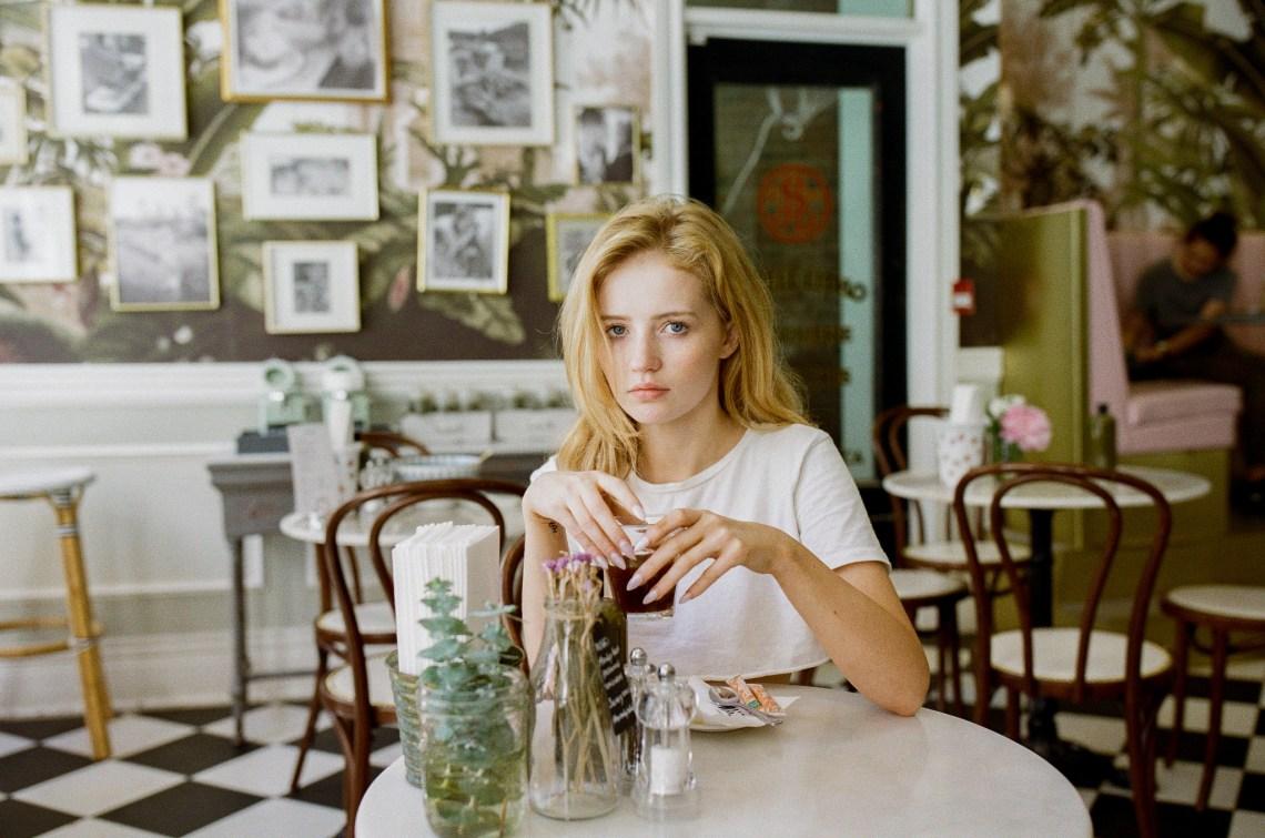 Sad Girl drinking coffee