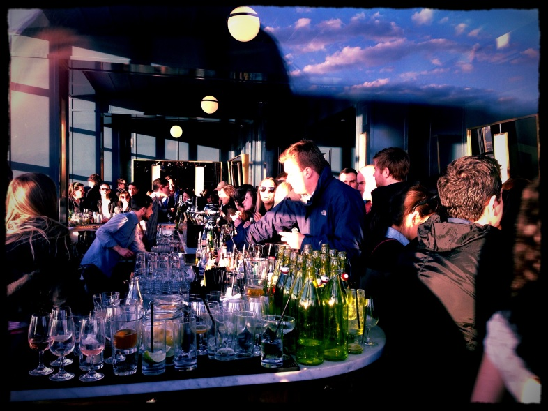 crowded bar