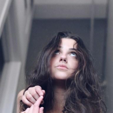 girl looking up, forgiveness