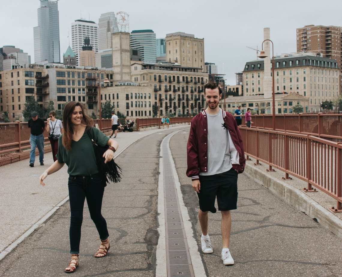 happy couple walking on the city, give yourself permission to love, love, realtionships