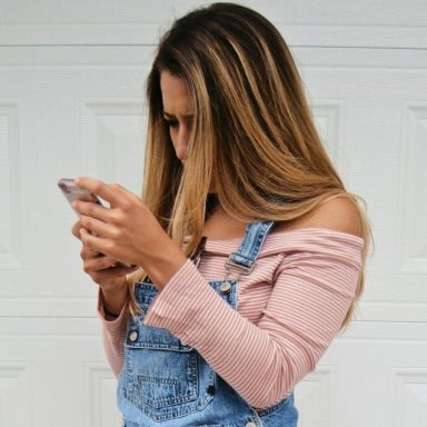 Girl on her cell phone