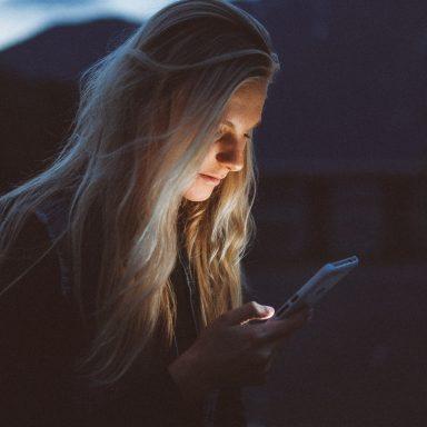 Girl reading texts