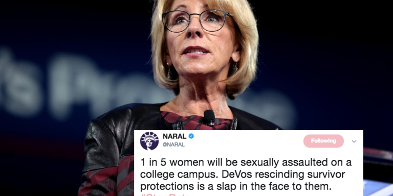 Betsy DeVos Passed A Rule That Will Protect College Students Accused Of Rape (But Not TheVictims)