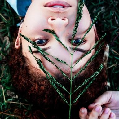 girl with leaves, everything is okay, okayness of life