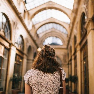 woman facing away from camera