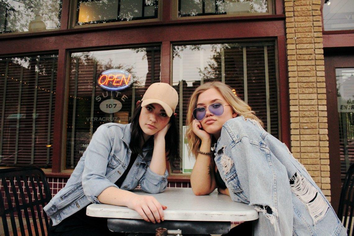 girls sitting outside, broken girls, girlfriends